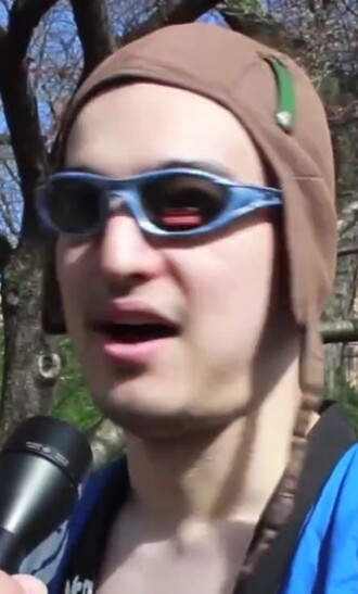 hat brown green straps green aviator hat aviator sunglasses filthyfrank filthy frank light brown maybe light brown youtuber sunglasses