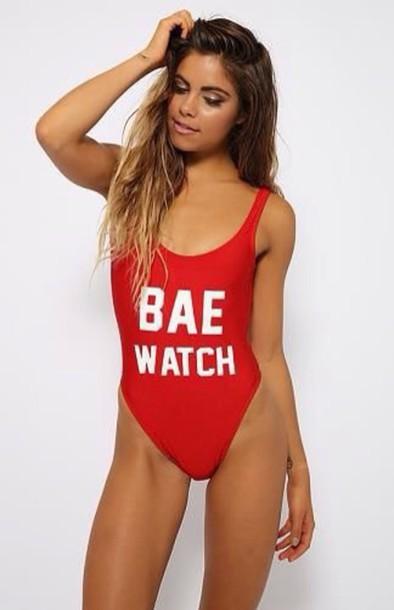 15480495137be swimwear, red swimwear, red baywatch swimsuit swimming costume ...