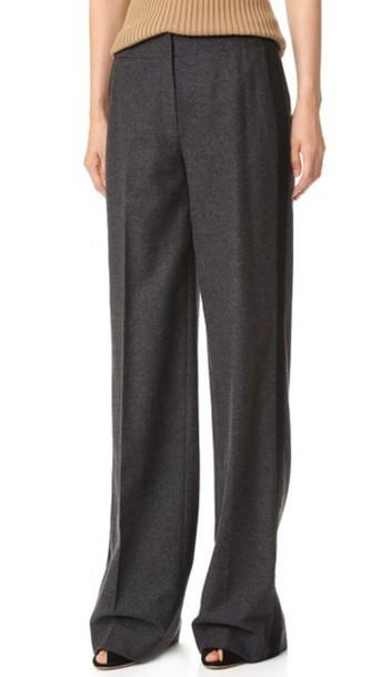 Jason Wu Wool Flannel Pants - Dark Flint Melange