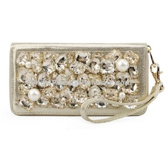 bag jewels clutch wallets pearl rhinestones gold fancy clubwear party