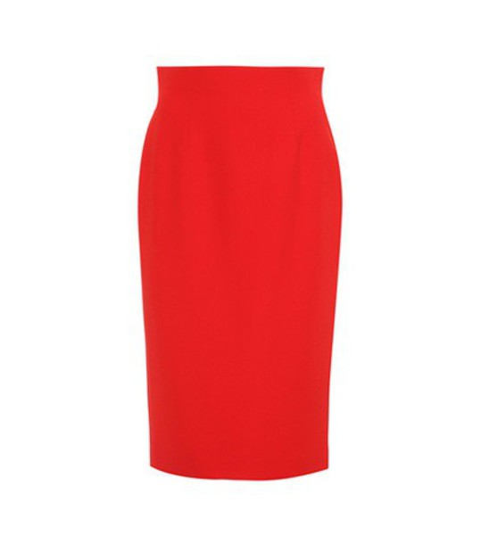 Alexander Mcqueen skirt pencil skirt red