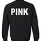Pink sweatshirt back