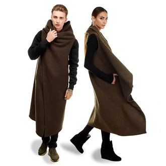 coat cape wool cape black brown clothes streetwear couple couplestyle urban outfitters winter outfits