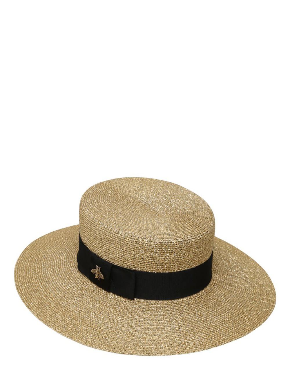 fd212346acea9 Gucci Gold Lurex Papier Hat - Wheretoget
