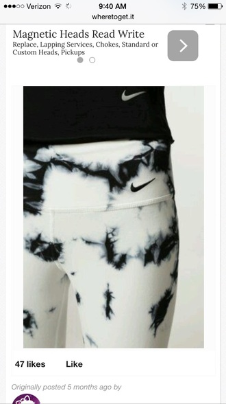 tights tie dye nike pants