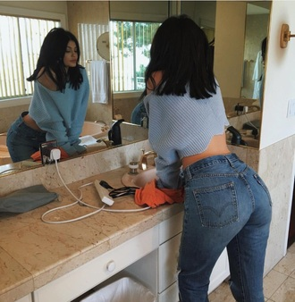 jeans kylie jenner blue style scrapbook girly grunge