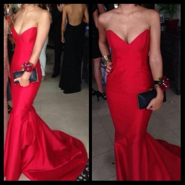 dress red formal long dress pretty red dress formal dress graduation dress