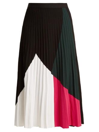 skirt pleated white black