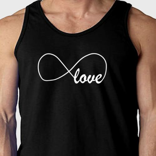 New Love Infinity XO Peace Eternal Forever Couple T Shirt Unisex Tank Top | eBay