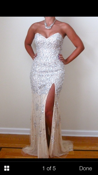 dress prom dress long prom dress jovani gown diamonds slit dress www.ebonylace.net ebonylacefashion