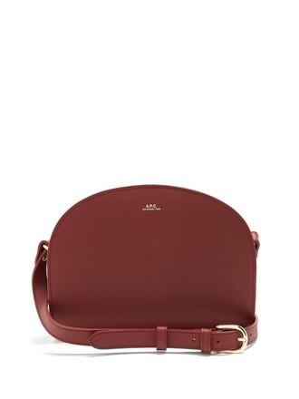 cross moon bag leather burgundy