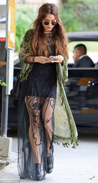 dress vanssa hudgens black lace
