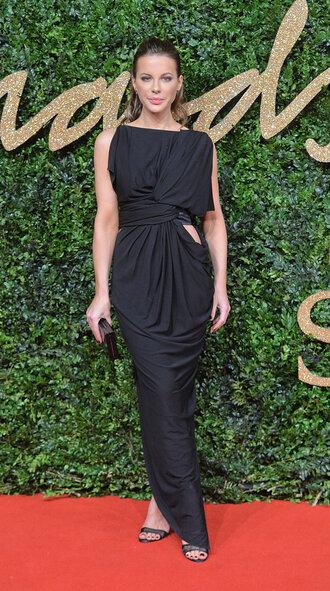 dress gown black dress kate beckinsale sandals asymmetrical dress shoes