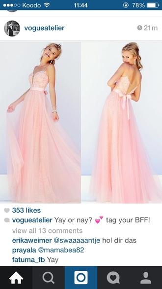 dress pink dress long dress prom dress