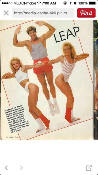 underwear high waist sportswear sportbra style 80s style aerobic exercise aerobic