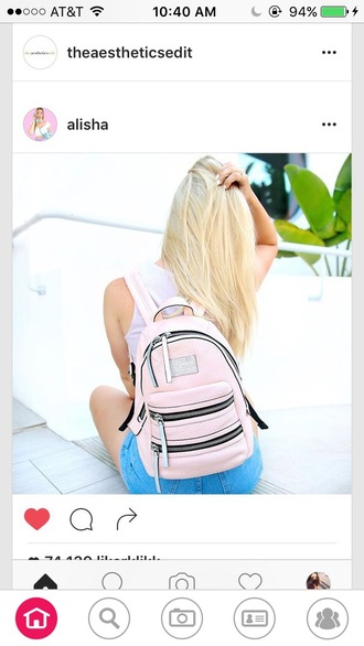 bag alisha marie pink backpack