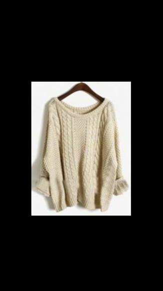 oversized warm winter sweater
