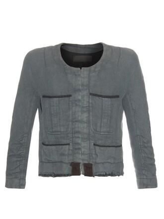 jacket cotton grey