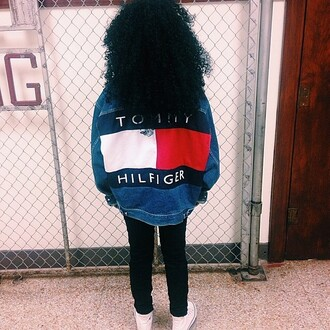 jacket tommy hilfiger denim denim jacket vintage vintage denim trendy american apparel aa ua urban outfitters bold