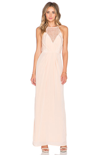 dress maxi dress maxi silk peach