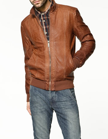hot sale hot product cheap sale BLOUSON EN CUIR SYNTHÉTIQUE - Blousons et parkas - Homme - New Collection  - ZARA France