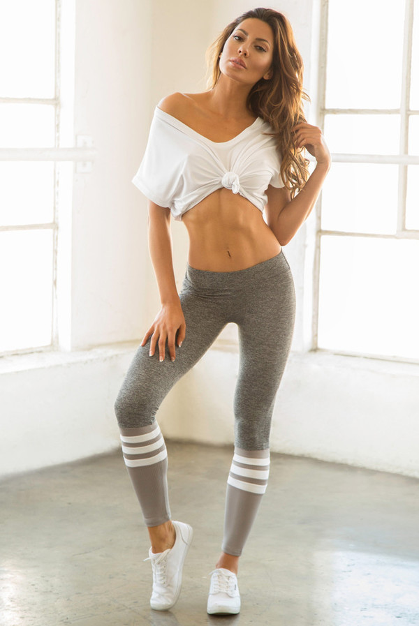 blouse leggings grey casual sporty sportswear comfy