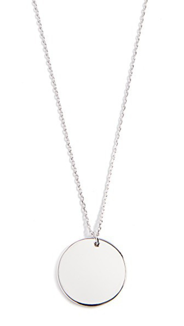 Cloverpost Circle Medallion Necklace in gold / white