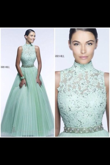 dress prom dress teal dress teal mint lace dress lace
