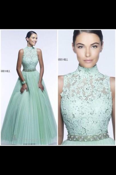 dress mint teal teal dress prom dress lace dress lace
