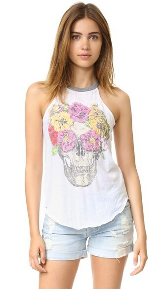 flowers white top