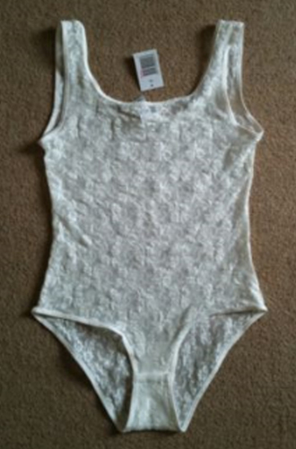 white lace floral leotard top sleeveless vest white tank top tank top