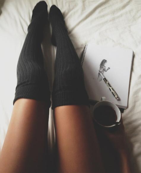 socks stockings long socks underwear over-the-knee knee high ribbed