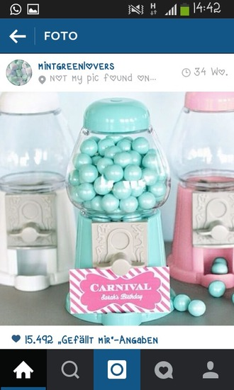 home accessory mint girly sweets food