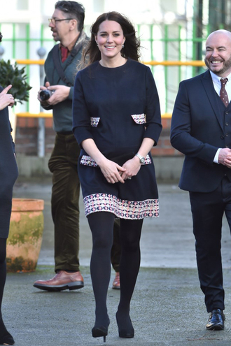 dress tweed kate middleton wool cartier jewels bag