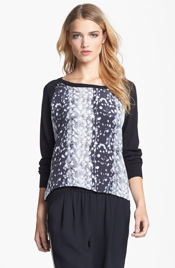 Joie 'Malena B.' Mixed Media Sweater | Nordstrom
