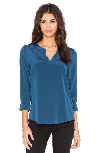 blouse long blue