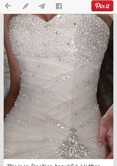 wedding dress bling