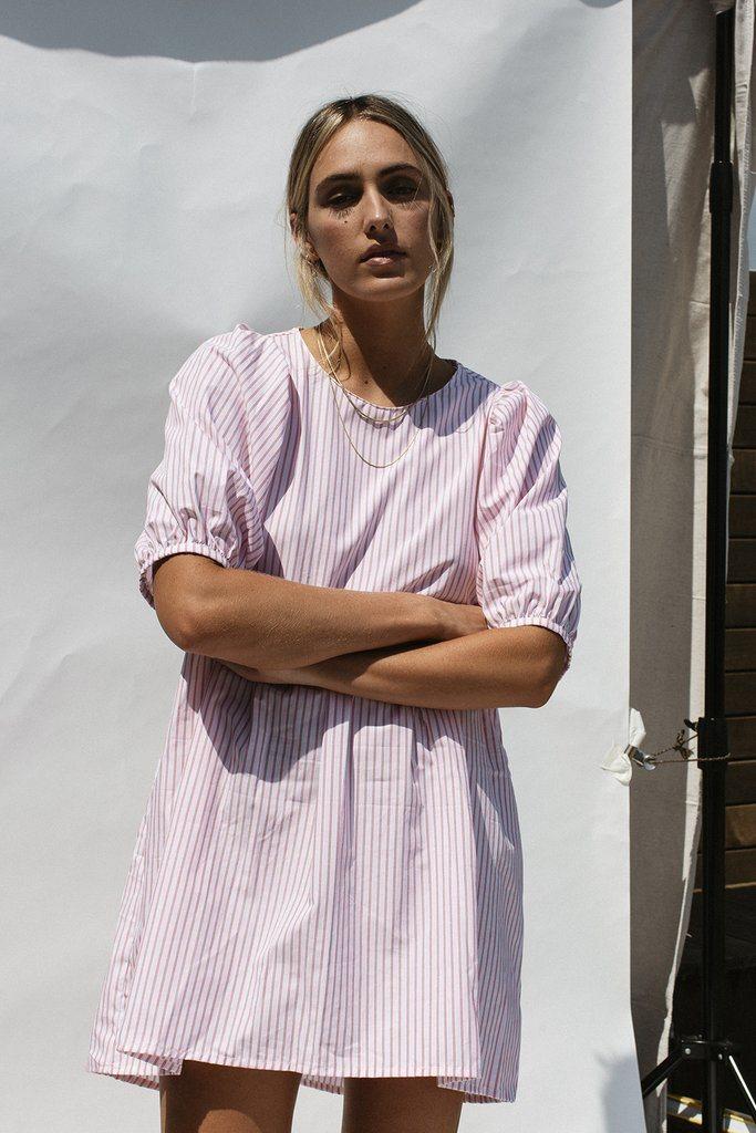 DARLA MINI DRESS - STRIPE