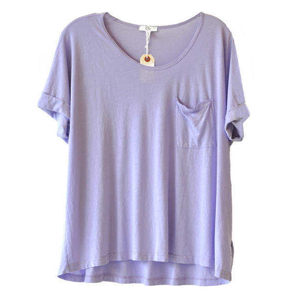 Clu Lavender Top - Polyvore
