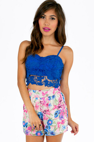 Lacey Bustier Cropped Top ~ TOBI