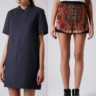 dress vintage retro style shirt dress shorts pattern