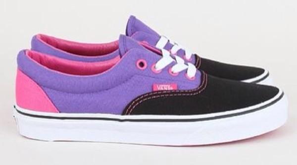 shoes vans vans off the wall tricolor purple size men us 6