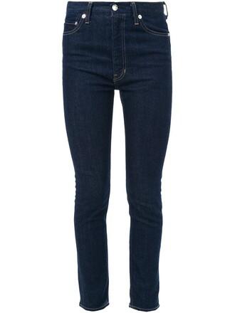 jeans skinny jeans women cotton blue