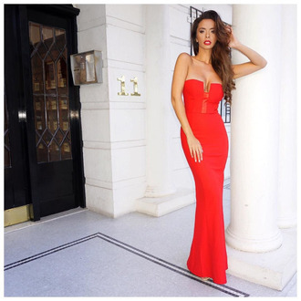 dress red dress long red dress maxi dress elegant dress