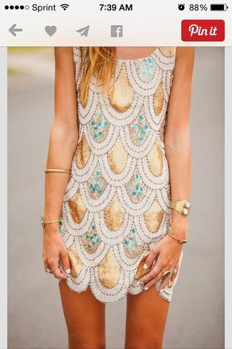 scalloped dress sequin dress tank top dress blouse cardigan jewels