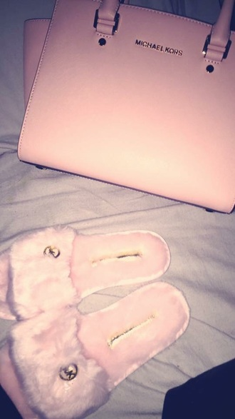 bag michael kors soft pink slippers