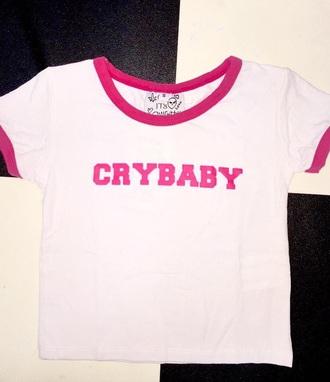 shirt crybaby ringer tee
