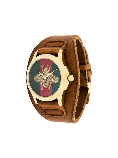 Gucci - Le Marché Des Merveilles watch - women - Calf Leather/stainless steel - One Size, Brown