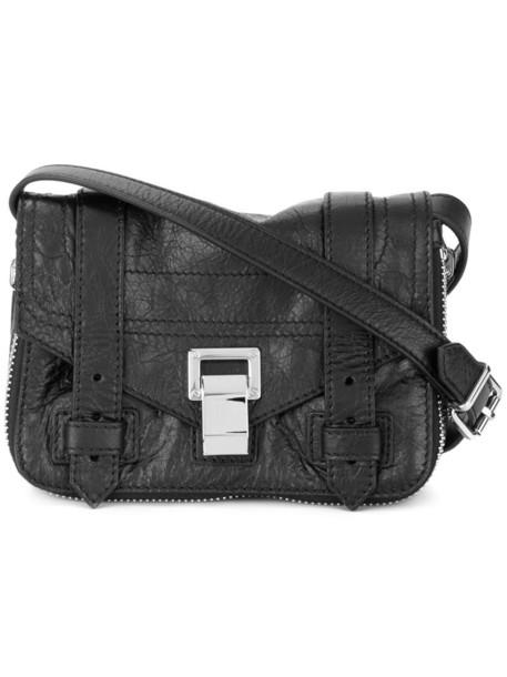 mini zip women bag crossbody bag leather black