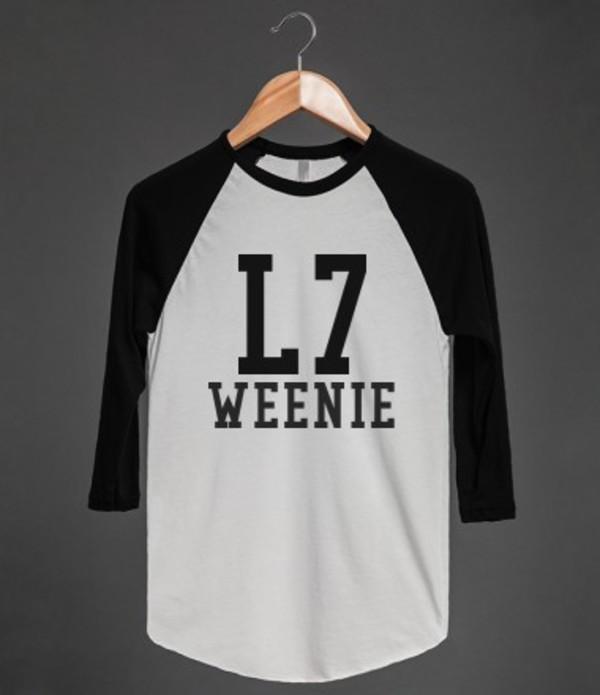t-shirt l7weenie sandlot movie baseball sportswear team shirt t-shirt t-shirt